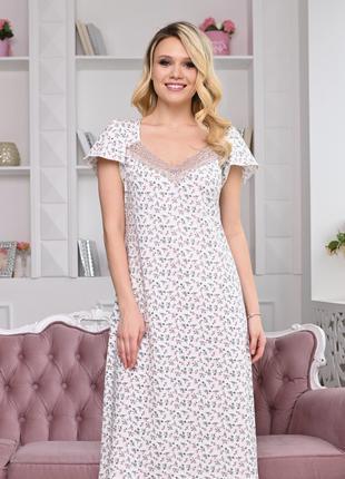"""Ночная сорочка с цветочным принтом """"Kamelia"""" арт. 899"""
