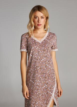 Ночная сорочка с коротким рукавом и  принтом LND 296/001