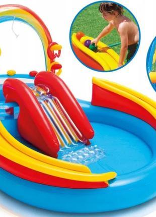 Бассейн надувной, детский игровой водный комплекс центр НАЛОЖКА