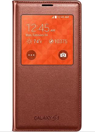 Чехол Samsung Galaxy S5 G900 S-View EF-CG900BPESTA-Rose Gold Ориг
