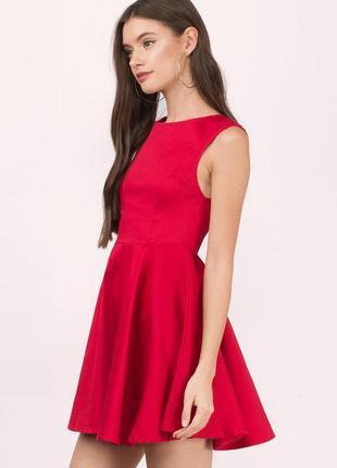 Стильное платье красного цвета topshop