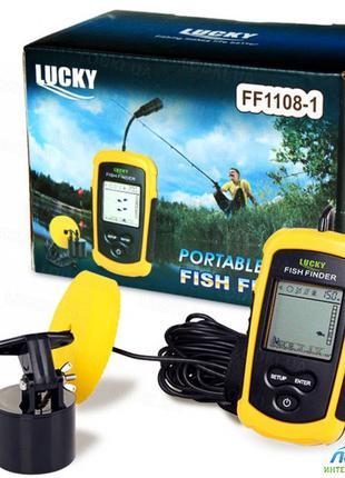 Эхолот Lucky FF1108-1 с проводным датчиком
