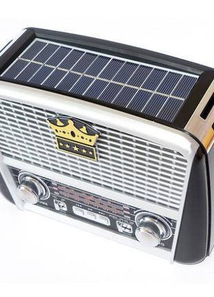 Радиоприёмник Golon RX-455S с солнечной панелью Серый