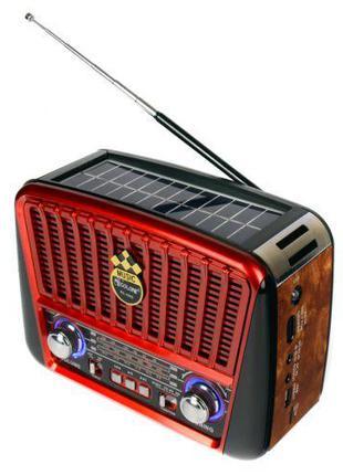 Радиоприёмник Golon RX-456S с солнечной панелью Красный