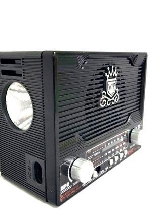 Радиоприемник +фонарик NS-1556S с солнечной панелью