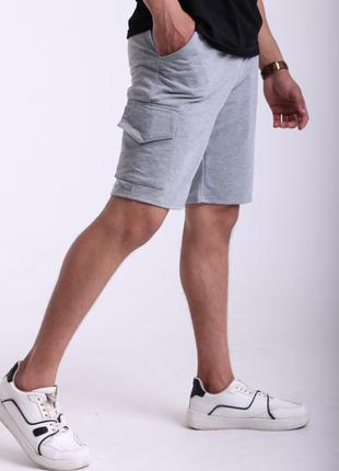 Шорты мужские серые карго Quest Wear