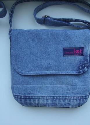 Джинсовая сумка через плечо сумочка