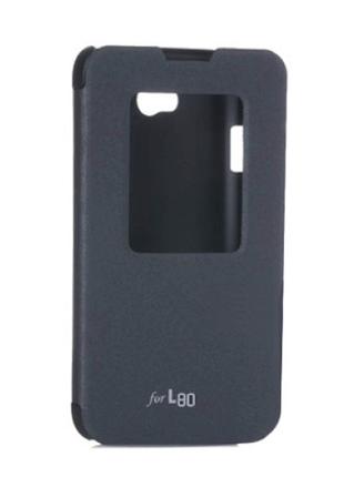Чехол книжка для LG L80 D380 Dual Vola-black