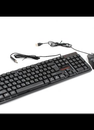 Клавиатура с цветной подсветкой USB UKC HK-6300TZ для ПК с МЫШКОЙ