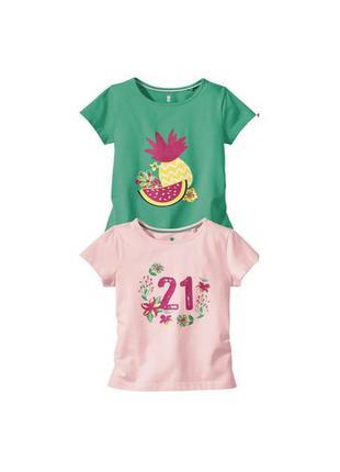 2 шт футболка lupilu на девочку, р.110-116(4-6 лет) набор из 2 шт