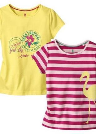 2 шт футболка lupilu на девочку, р.110-116(4-6 лет) набор 2 шт...