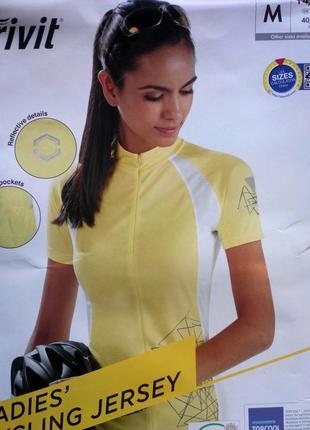 Велофутболка футболка для спорта р.м 40-42 crivit германия желтая