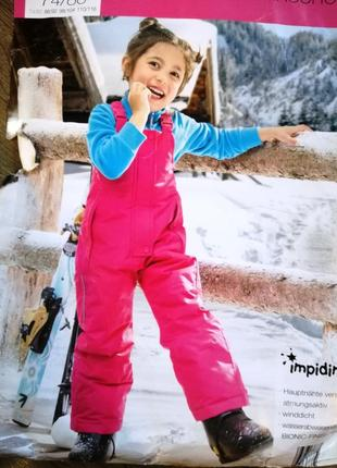 Термо полукомбинезон, зимние штаны 74-80 impidimpi, германия