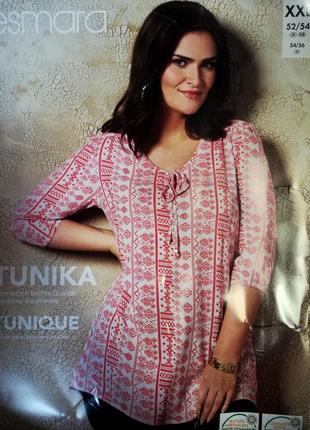 Женская блуза р. xxl 52-54 esmara германия туника