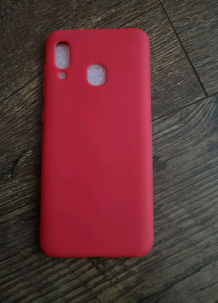 Чехол силиконовый Samsung A20/A30 Red