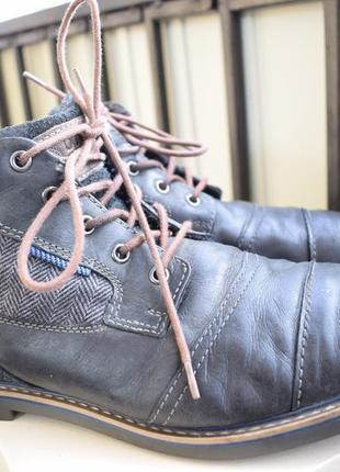 Кожаные утепленные ботинки полуботинки bugatti р.46 30 см герм...