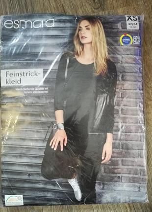 Трикотажное платье xs 32-34 esmara германия цвет темно-зеленый