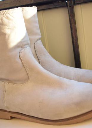 Ботинки кожаные нубук ботильоны киоми kiomi р.41 26,6 см