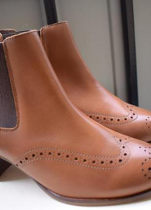 Кожаные ботинки челси оксфорды ботильоны