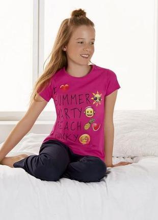 Пижама, домашний костюм 146-152 emodji lidl германия футболка ...