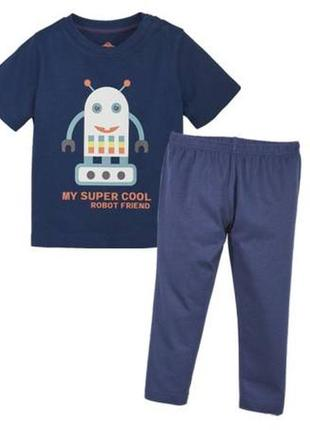 Летний костюм, футболка и штаны 86-92 lupilu германия пижама