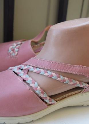 Кожаные туфли босоножки Hotter р.41 Англия 26,5 см мокасины са...