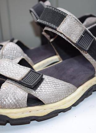 Кожаные босоножки сандали на липучках риекер rieker р.39 на ши...