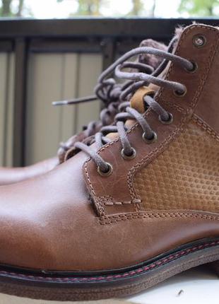 Кожаные зимние ботинки мех внутри