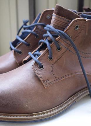 Кожаные демисезонные ботинки роспаровка