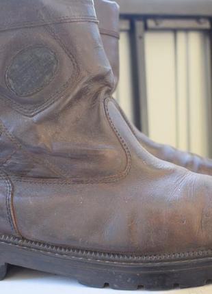 Кожаные зимние демисезонные ботинки полусапоги