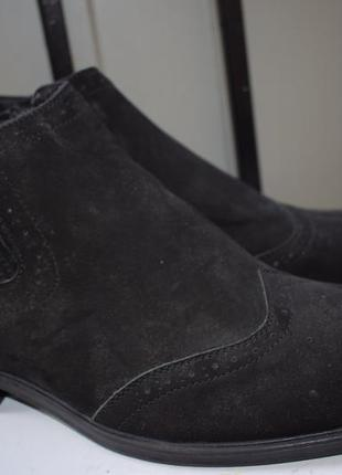 Зимние ботинки кожаные мех внутри полуботинки челси италия