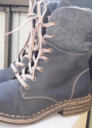 Зимние ботинки полусапоги демисезонные риекер