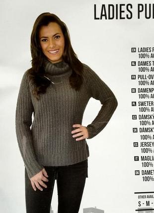 Теплый свитер крупной вязки с горлом l 44-46 esmara, германия,...
