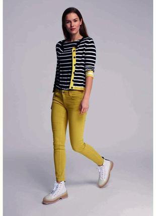 Брендовые джинсы р. 36, s-m, горчичного цвета more&more германия