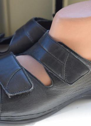 Кожаные ортопедические босоножки сандали сандалии berkemann 26 см
