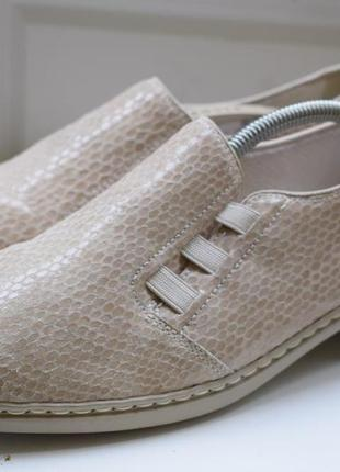 Кожаные туфли мокасины лоферы балетки jenny by ara р.39 26 см