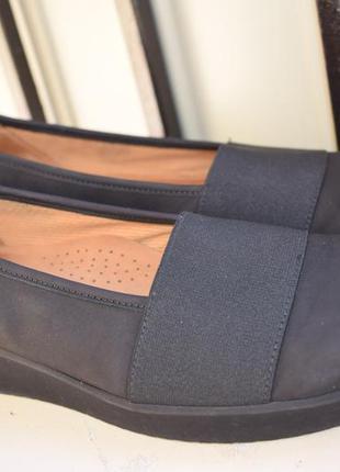 Кожаные туфли балетки лодочки мокасины р.38 р.5  как новые