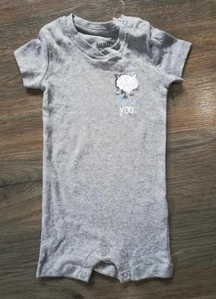 Хлопковый песочник, слип-пижама 62-68 lupilu германия