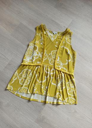 Натуральная блуза майка топ в стиле бохо от next