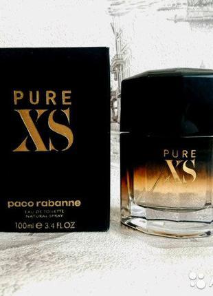 Мужские духи Paco Rabanne Pure XS for men Black 100 ml ОАЭ