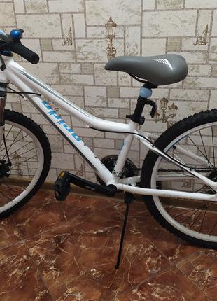 Велосипед 24'' Pride Pilot 21 бело-серый -голубой матовый