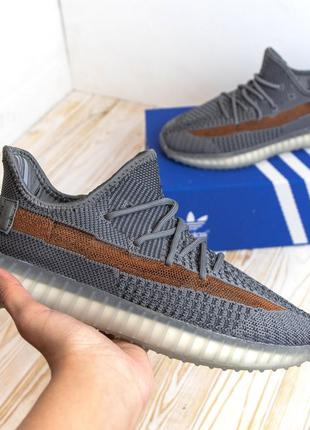 3144 Adidas Yeezy Boost 350 серые кроссовки мужские адидас изи...