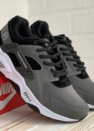 3080 Nike Huarache серые кроссовки мужские кросовки Найк замшевые