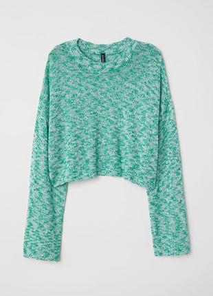 Укороченный свитер, джемпер р.м, меланж h&m, швеция
