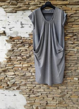 Очень стильное интересное вискозное с карманами платье большог...