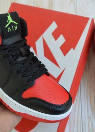 4026 Nike Jordan женские кроссовки высокие джордан найк красны...