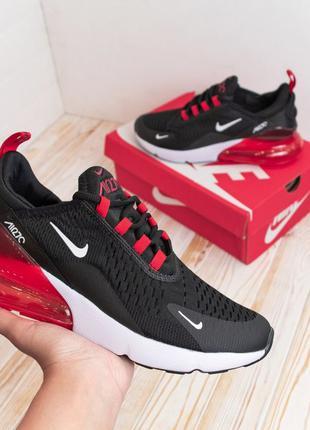 3159 Nike Air Max 270 черные с красным кроссовки мужские Найк ...
