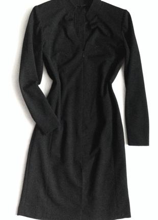 Платье черного цвета, ручная работа, платье миди