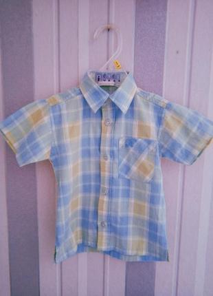 Рубашка в клетку для мальчика