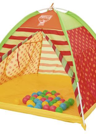 Палатка детская для игр с 40 шариками 112х112х90 см